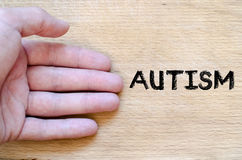 Autism text concept Royalty Free Stock Images
