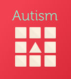 Autism vector with triangle and squares Royalty Free Stock Photo