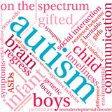 Autism Word Cloud. On a white background Stock Images