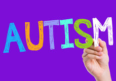 Autism written on the wipe board Royalty Free Stock Images