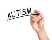 Autismbegrepp Arkivbild
