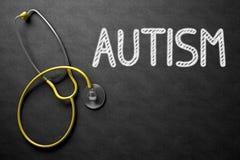 Autisme Met de hand geschreven op Bord 3D Illustratie Stock Foto