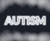 Autismneonbokstäver SAD mood också vektor för coreldrawillustration stock illustrationer