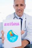 Autismo contra o dia da conscientização do autismo imagens de stock royalty free
