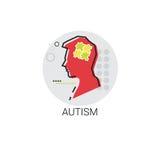 Autismus-psychische Gesundheit Brain Activity Icon Lizenzfreie Stockbilder