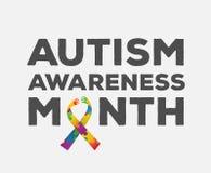 Autismusbewusstseins-Designvektor Stockfotos