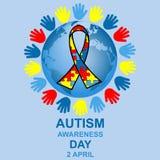 Autismusbewusstseins-Tagesdesign Lizenzfreies Stockbild
