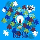 Autismustag Unterstützung für Kinder mit Autismus T-Shirt stockbild