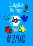Autismustag Unterst?tzung f?r Kinder mit Autismus T-Shirt lizenzfreie stockfotografie