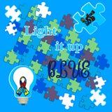Autismustag Unterst?tzung f?r Kinder mit Autismus T-Shirt stockbild