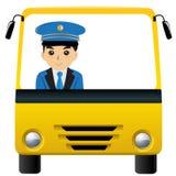 Autista di autobus Fotografie Stock Libere da Diritti