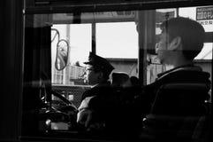 Autista di autobus giapponese Fotografie Stock Libere da Diritti