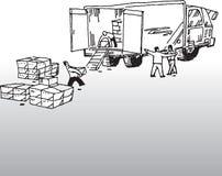 Autista di camion royalty illustrazione gratis