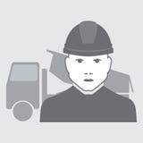 Autista di camion di vettore Fotografia Stock