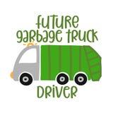 Autista di camion futuro dell'immondizia illustrazione di stock