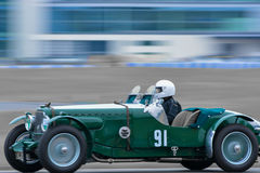 Autista di corsa - automobile sportiva d'annata Fotografia Stock