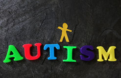 Autistic child concept Royalty Free Stock Images