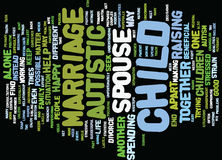 Autistic Children And The Strain On Marriage Word Cloud Concept Royalty Free Stock Images