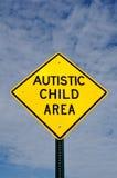 Autistisches Kind-Bereichs-Zeichen Stockfoto