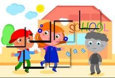 Autistisk pojkeföreställning Arkivfoton
