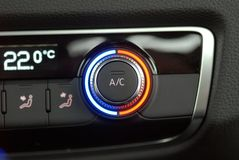 Autmatic Car Air Conditioner. Manual switch board in the car Stock Images