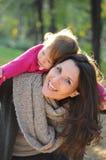 Autmn-Familienzeit Lizenzfreie Stockbilder