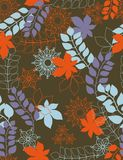 Autmn leaves - seamless pattern. Loral seamless pattern with styled leaves Stock Photo