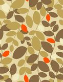 Autmn leaves - seamless pattern. Seamless pattern in warm color palette Royalty Free Stock Photography