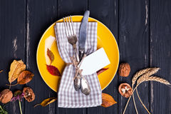 Autmn table setting Royalty Free Stock Images