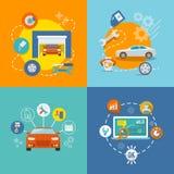 Auto ícone do serviço liso Fotografia de Stock