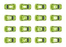 Auto ícones 1 do Web Imagens de Stock