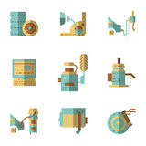 Auto ícones do plano de serviço ajustados Imagem de Stock