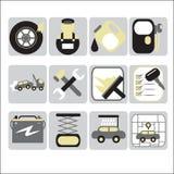 Auto ícones do serviço Fotografia de Stock Royalty Free