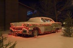 Auto 1 van Kerstmis stock foto