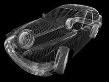 Auto 3d Lizenzfreies Stockfoto