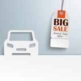 Auto-Abdeckungs-Preis-Aufkleber-Verkauf stock abbildung