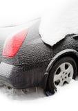 Auto abgedeckt durch Schnee Lizenzfreies Stockbild