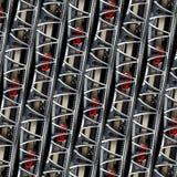 Auto abstraktes Fractal-Hintergrundmuster von Sportwagenautomobilradelement-Bremsscheibe-Reifenspeichen Lineare industrielle Zusa stockfotos