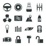 Auto accessories icons set Stock Photography