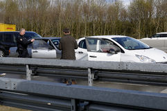 Auto accident on Germnay motorway Royalty Free Stock Photo