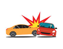 Auto accident involving two cars. Royalty Free Stock Photos