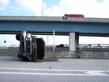 Auto Accident Live Fort Lauderdale Florida. LIve accident taken from a moving vehicle. Location: Marina Mile (SR84) and I95 SouthBound Exit,Fort Lauderdale Fl. @ stock photos
