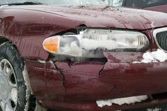 Auto acidente do farol dianteiro Fotografia de Stock Royalty Free