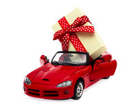 Auto als Geschenk für einen Feiertag Lizenzfreies Stockbild
