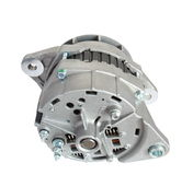 Auto alternator. Alternator auto isolated on white background, back view Royalty Free Stock Photo