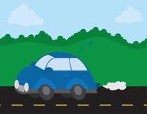 Auto-Antreiben auf die Straße lizenzfreie abbildung
