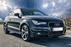 Auto, Audi, Black, Vehicles, Tuning Royalty Free Stock Photos
