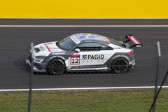 Auto Audis DTM im Rennen lizenzfreie stockfotos