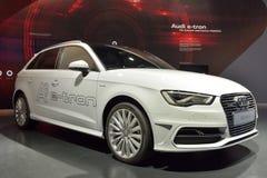 Auto Audis A3 ETron Lizenzfreies Stockfoto