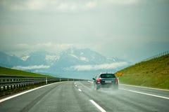 Auto auf dem Autobahn Stockfoto